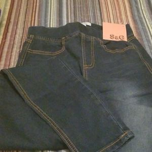 Jeggings, with two front pockets